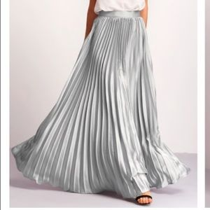 SHEIN silver pleated maxi skirt - size M